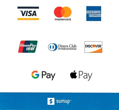 Credit/Debit Cards Payments accepted